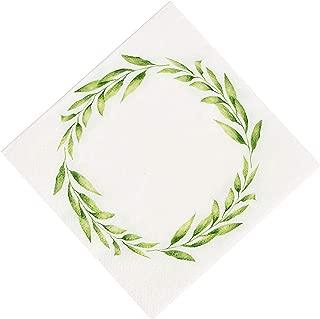 Fun Express - Greenery Beverage Napkins (16pc) for Wedding - Party Supplies - Print Tableware - Print Napkins - Wedding - 16 Pieces