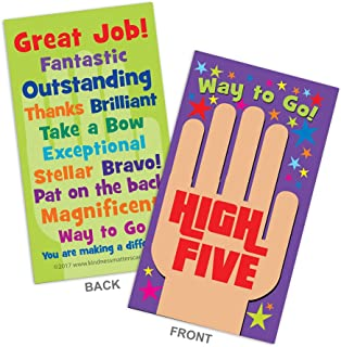 High Five Appreciation Cards — Box of 100 Cards for Teachers, Employers, Friends, Co-Workers, Family