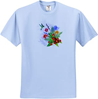 - T-Shirts Nature Photo of an Eastern Tiger Swallowtail Pollinating Some Lilac Flowers 3dRose Stamp City