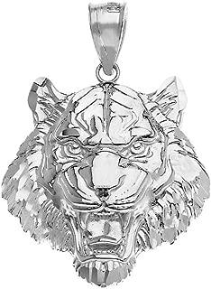 Elegant Roaring Tiger Head Necklace Pendant (Large)