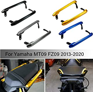 MT09 FZ09 motorcycle Motorbike Rear Passenger Seat Grab Bar Hand Rail Kit For 2013 2020 Yamaha MT FZ 09 MT 09 FZ 09 2014 2015 2016 2017 2018 2019 (Gold)