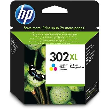 Original HP 302XL F6U67AE Colour cartridge, XL Version XL