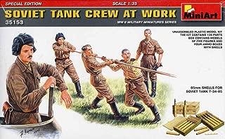 MiniArt 1:35 Soviet Tank Crew at Work WWII Plastic Figure Kit #35153