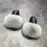 Kirin-1 Pantofole Fuzzy Muli soffici-36_Grigio Chiaro