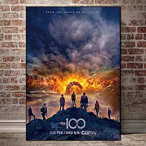 Liuqidong Cuadro de Arte de Pared Los Carteles e Impresiones de películas de Ciencia ficción de 100 televisores imágenes artísticas de Pared para la Sala de Estar 60x90cm