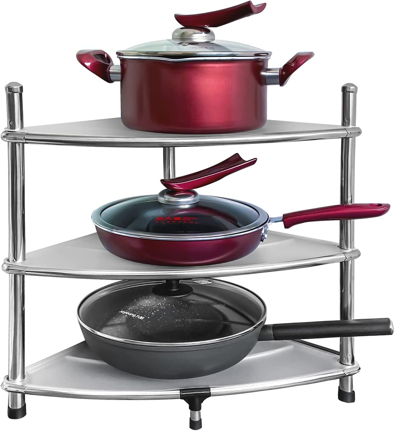 Pots Inventory cleanup selling sale and Pans Organizer 2 Challenge the lowest price Stand for Cab DUU Pack