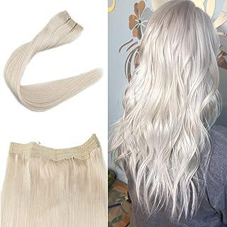 Full Shine Platinum Blonde 60 Halo Hairpiece 14