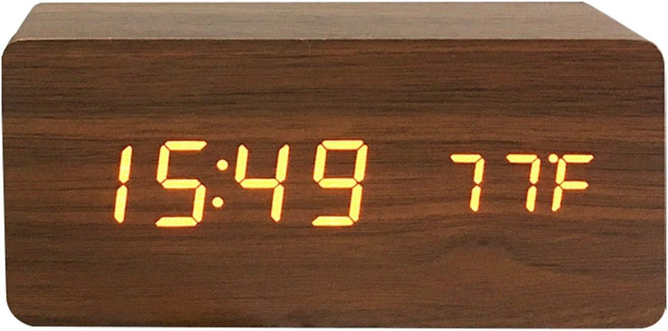 JJYGTES Alarm Clock LED Voice Watch famous Max 57% OFF Cont