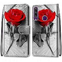 Laybomo Huawei Y6p ケース カバー 手帳型, [カードスロット]および[キックスタンド]付きの磁気閉鎖完全保護設計ウォレットフリップ 財布型カバー対応 Huawei Y6p電話ケース, 塗る 4