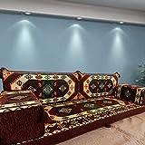 Spirit Home Interiors Arabisch orientalische Majlis Bodenbestuhlung, Bodenkissen, Bodenkissen, Sofa Couch mit Innenfüllungen / SHI_FS249