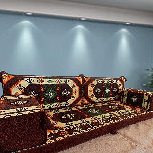 Spirit of 76 Asientos árabes orientales Maylis para suelo, cojines de suelo, sofá sofá con relleno interior / SHI_FS249