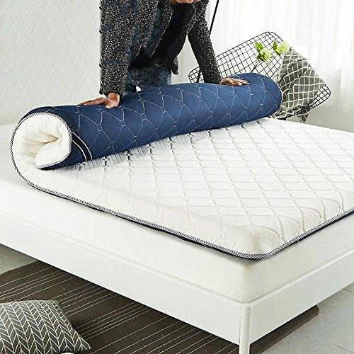 XHNXHN Colchón de Esponja Engrosado de 8 cm, colchón de Tatami 4 Bandas de Anclaje Colchón Plegable Cojín de colchón Sala de Estar Home-C 135x190cm (53x75In)