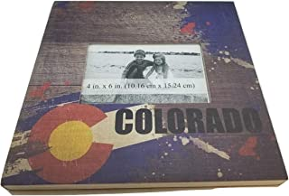Colorado State Flag Souvenir Wood Picture Frames for Your Home, Wall, Tabletop, Desk