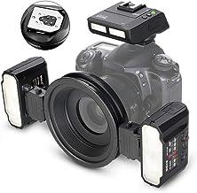 QYRL Macro Twin Flash Flash para Canon DSLR Cámara 70D 60D 760D 750D 550D 450D 1200D EOS 5D 6D M3 Fotografía