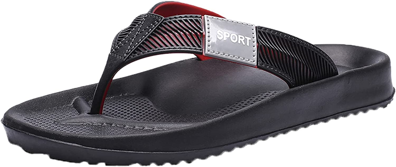 Men's Flip-Flops Summer Outdoor Beach Sandals Lightweight Slip On Touch Strap Comfort Slippers Great for Hiking Travel Leisure Shopping Beach Pool Surfing