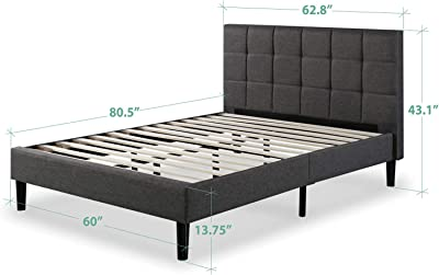 Zinus Bastidor para cama de plataforma tapizado esencial ...