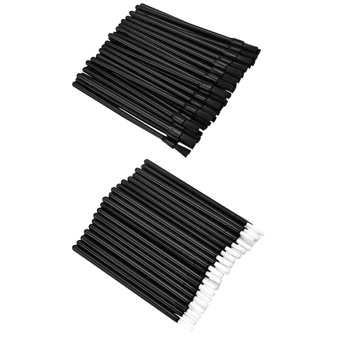 リール煙代数的DYNWAVE リップブラシ ロット リップ ブラシ 使い捨て 繊維 リップ メイクブラシ 約100個