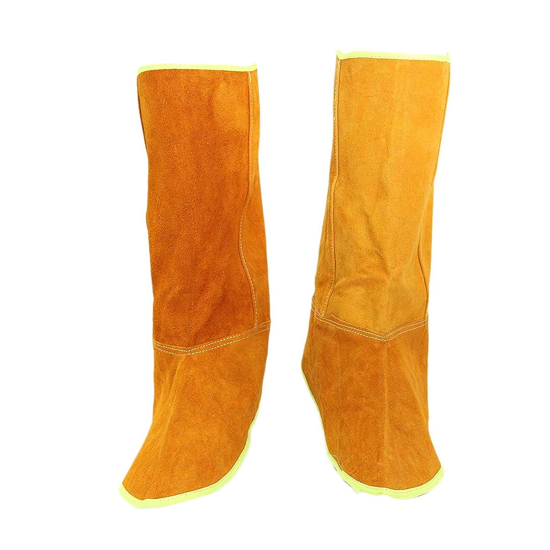 下に勘違いする私B Baosity 足カバー 耐熱 レザー 溶接 スプリット 保護靴 カバー プロテクター