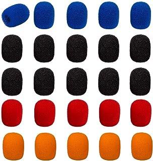 25 Pack Mini Lapel Headset Microphone Windscreen Foam Cover,SourceTon Lavalier Microphone Windscreen Assorted Colors (10 B...