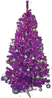 Homegear 6FT Artificial Purple Xmas/Christmas Tree