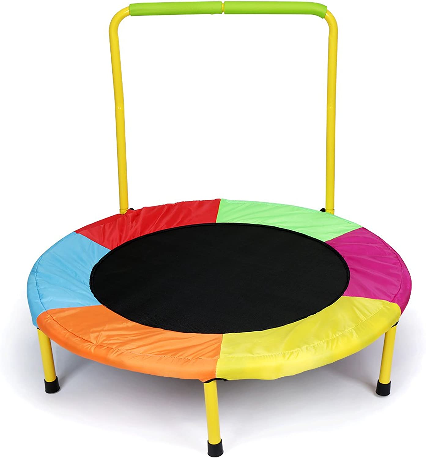 Hj JH colorful Folding Durable Junior Kids Trampoline Bouncer with Handle Indoor Outdoor