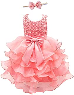 Girls Kids Tulle Flower Dress Baby Girl Princess Christmas Pageant Birthday Party Dresses