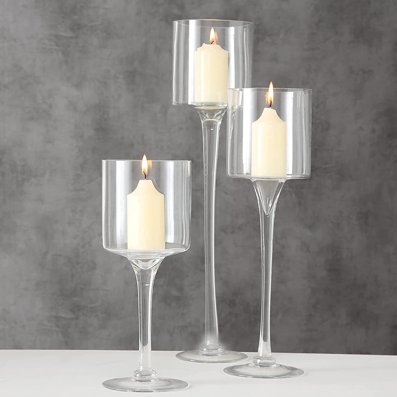 Glass Candleholders Tea famous Light Candle Weddi Clear Holders Ranking TOP15 Wedding