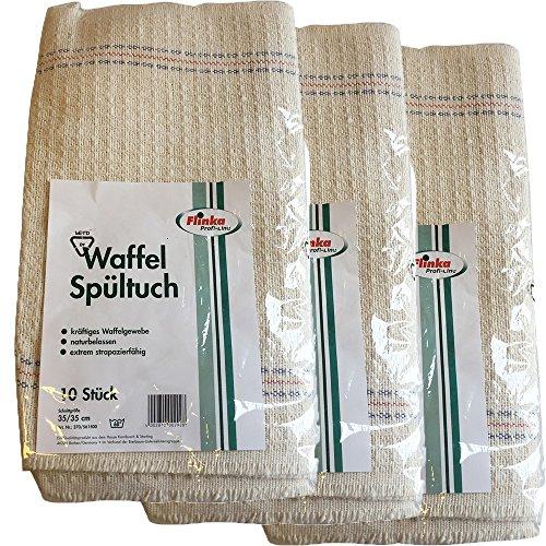 Flinka Spültuch Waffelspültuch Profi Gastro 35x35cm - 3er Vorteilspack (3 x 10 Stck.)