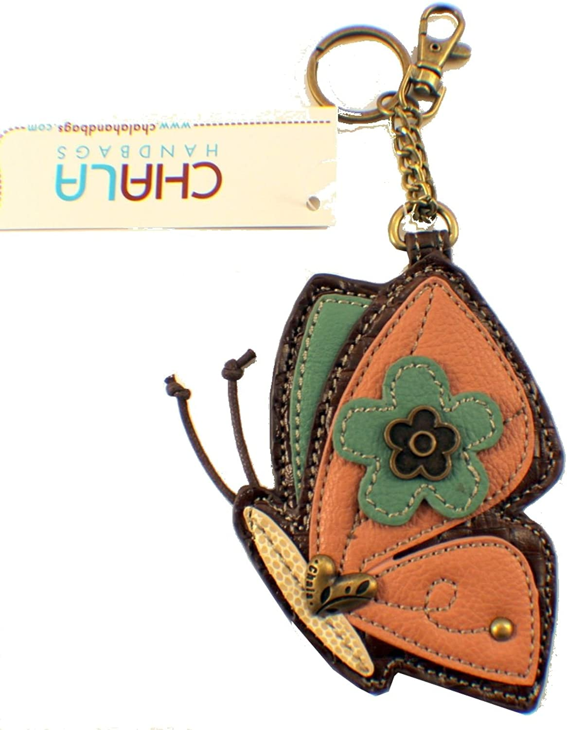 Chala Coin Purse  Key Fob  Pink Butterfly