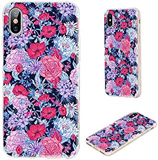 iPhone Xs Case,iPhone X Case,VoMotec Shockproof Slim Flexible Soft TPU 360 Full Protective Cover Cases with Art Design for...