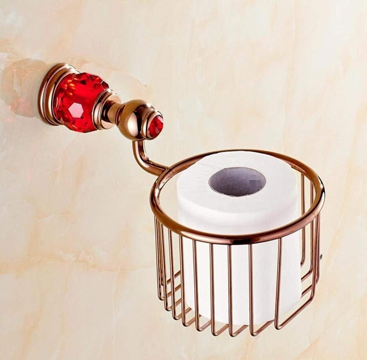 Paper Towels Copper Crystal Shopping Cart Door-Paper, Toilet Paper European-Style Bathroom Cylinder-Paper Door Door-Roll Paper Towels Modern Pendant,A,9  13cm