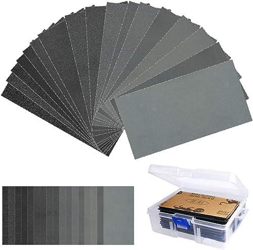 Húmedo y Seco Papel de Lija Grano 2000 5 hojas de papel de 230 X 280mm a prueba de agua mayor qua