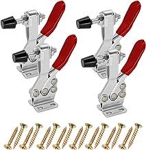 Abimars - Pinza de palanca para herramientas manuales (201B, antideslizante, capacidad de sujeción de 200 libras, horizontal, liberación rápida, resistente, 4 unidades)