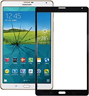 Mobile Phone Replacement Repair Parts Replacement Compatible with Samsung Galaxy Tab S 8.4 LTE / T705 Front Screen Outer Glass Lens Phone Accessories (Color : Black)