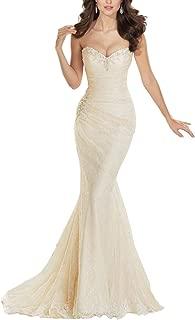 sweetheart beaded lace wedding dress