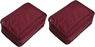 HUI JIN Lot de 2 sacs de rangement pour chaussures de voyage avec fermeture éclair pour prévention de la poussière et de l...