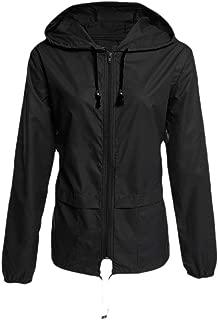MogogoWomen Windbreaker Outdoor Zip Tops Outwear Lightweight Jacket Coat