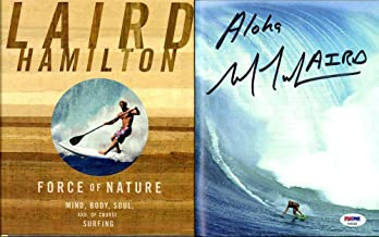 Laird Hamilton SIGNED Force Of Nature HC 1st Ed AUTOGRAPHED Surf Champ - PSA/DNA Certified - Autographed Extreme Sports Products
