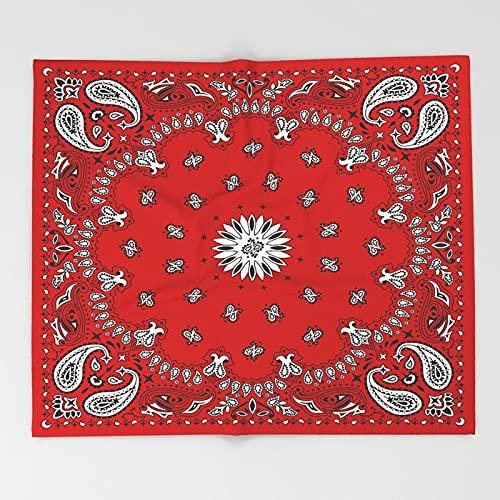 Zhouwei Pañuelo de seda con estampado de pañuelo, pañuelo cuadrado, manta de forro polar suave para sofá cama (color: 7, tamaño: 125 x 150 cm)