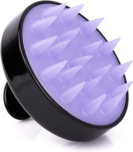 Hair Scalp Massager, Hair Exfoliating Shampoo Brush with Soft Silicone Head, for All Hair Types
