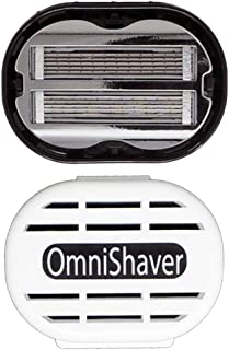 Premium Omnishaver with White Travel Case - The Fastest Way to Shave Head, Legs, Arms, Body   an Alternative to Disposable...