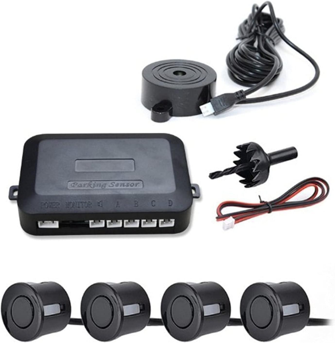 XINXI-YW Cámaras montadas en el Coche en el Coche Sensor de Aparcamiento Sensor Kit Reverse Backup Radar Alert Indicator System System 4 Probe Beep Sensor Detector de automóviles para carros