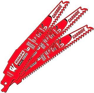 "Freud DS0609CGP3 Diablo 6"" Carbide Tipped General Purpose Reciprocating Blade 9-6 TPI (3/32""-1/4"") (3 Pack)"