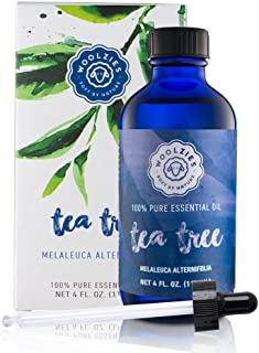 Woolzies Tea Tree Essential Oil 4 Oz 100% Pure Natural Therapeutic Tea Tree Oil for Face Skin Hair Topical Treatment for A...