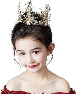 RKY Ragazze Corona, for Bambini della Decorazione della Torta Copricapo Corona Principessa Girl Corona Crystal Golden Comp...