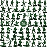 200 Piece Green Army Toy Soldiers Men Action Figures Soldiers in Various Poses for Boys