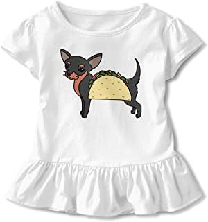 Qiop Nee Sloth and Taco Short Sleeve Tshirts Baby Girl