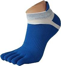 Lookatool MenMesh Meias Sports Running Five Finger Toe Socks