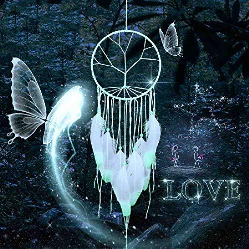 JYHW Glow Dream Catcher Indian wind bel veren kralen cadeau huis decoratie auto hanglamp dreamcatcher