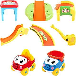Dayloveme Elephant Parking Lot Assembly Toy Toddler Car Toys for 1 2 3 Years Old Boys